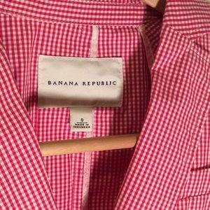 Banana Republic gingham shirt jacket (S) Vintage